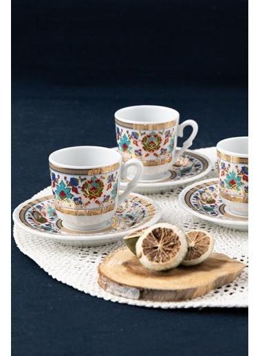 Güral Porselen Güral Porselen Sedef Kahve Fincan Takımı 6 Kişilik SF12CKT084543 Renkli
